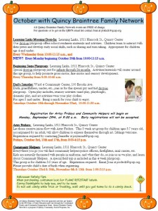 Quincy Braintree Oct Family Network