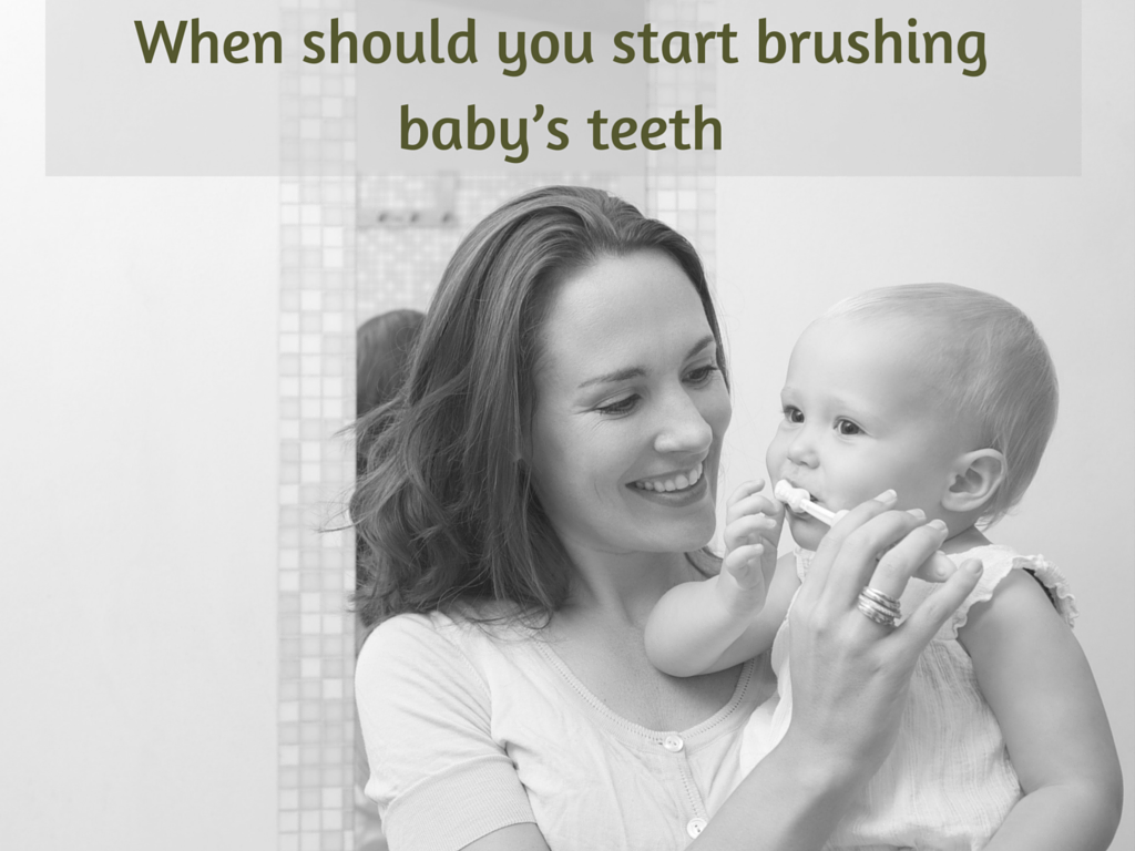 When should you start brushing baby's teeth